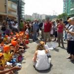 Bambini in Via D'Amelio contro la mafia
