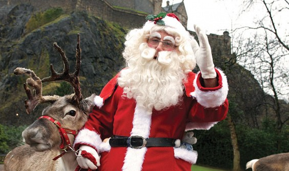 Natale ad Edimburgo. Santa Claus. Photo Credits: