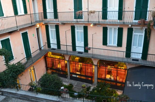 Cortile interno Hotel Pesce d'Oro Verbania