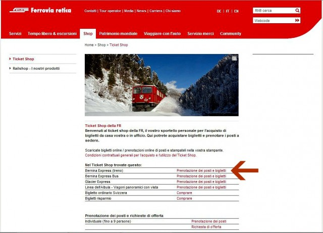 come acquistare ticket bernina express online 1