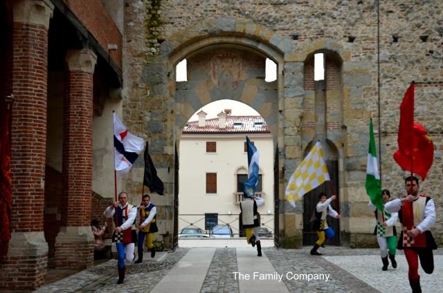 Marostica Castello da Basso Sbandieratori