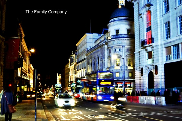 London Regent Street at night 3