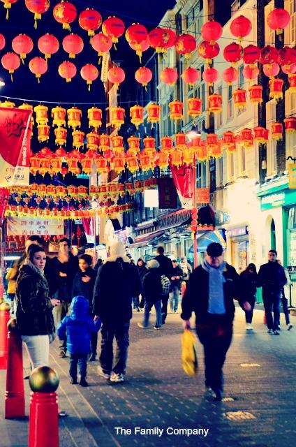 Londra ChinaTown lampade