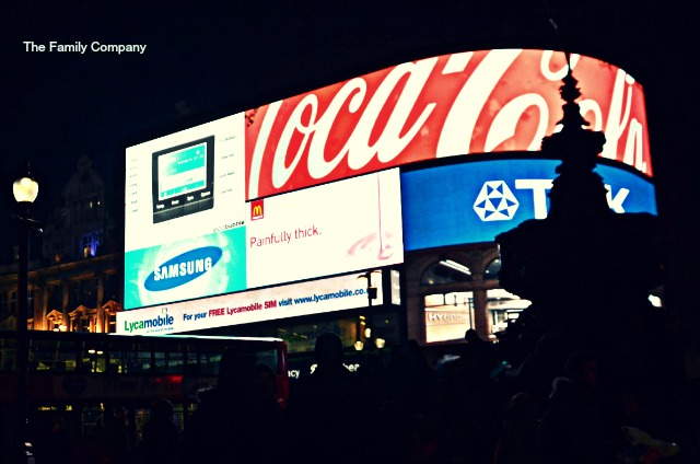 Londra Piccadilly Neon