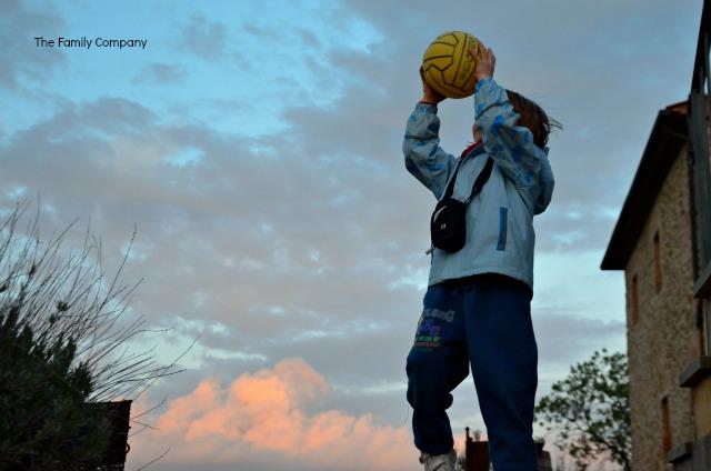 Tenuta di seripa giocando al tramonto