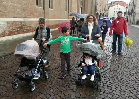A Vicenza, sotto la pioggia