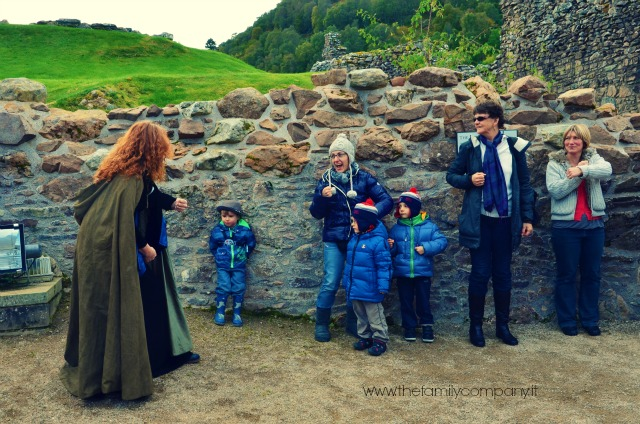Urquhart Castle Scozia con bambini