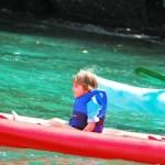 In canoa nella baia di Portofino