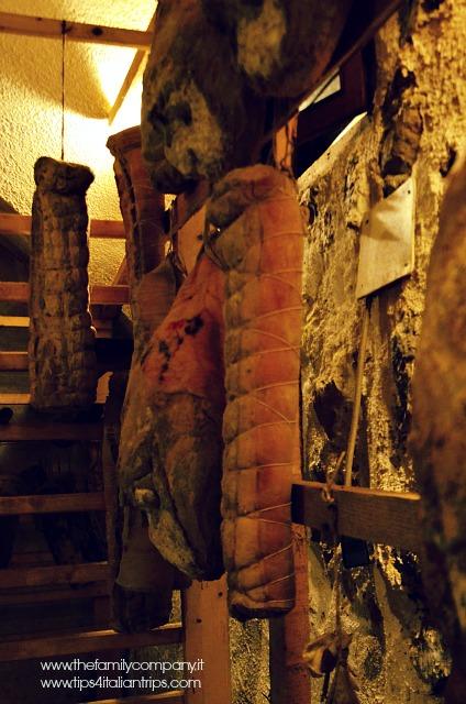 I salumi della cantina Sacher, presso il Pineta Hotels