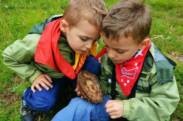 trekking con bambini tronco