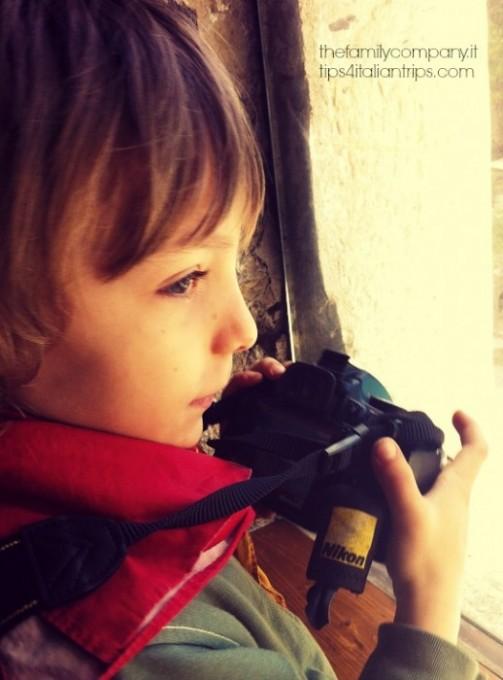Macchina fotografica per bambini in viaggio