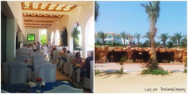 sala esterna del ristorante principale e bar sull spiaggia
