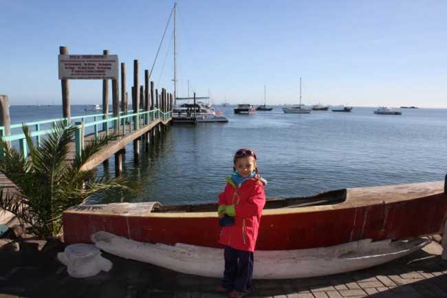 in partenza x uscita catamarano a walvis bay