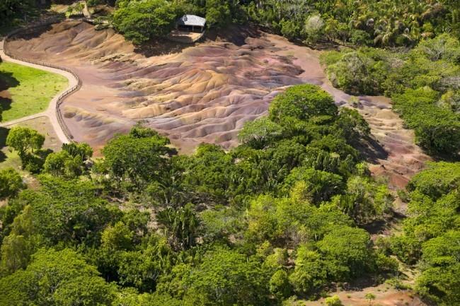 Le Terre Colorate di Chamarel. Foto Roberto Savioli