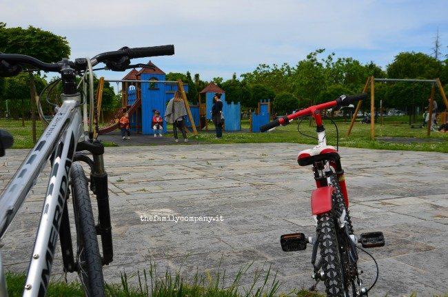 ravenna con bambini bici