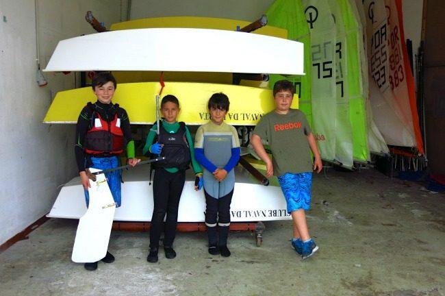 Giovani velisti del Clube Nautico di Horta