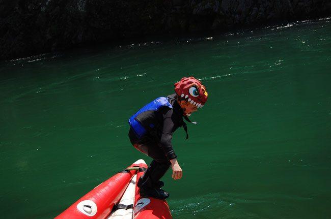 Tuffo dalla canoa e poi via a nuoto nel fiume Sesia!