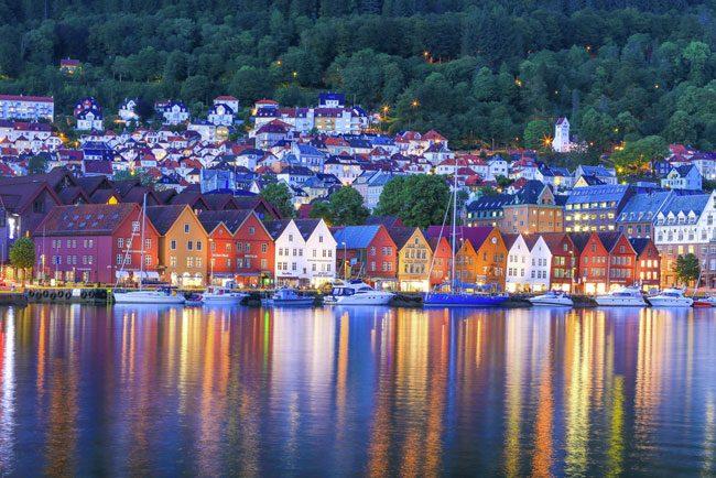 Il Bryggen, il porto, patrimonio dell'Unesco.