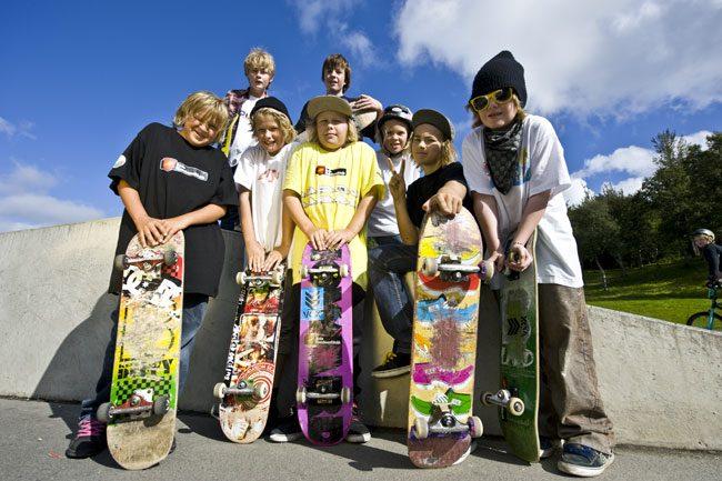 Giovani skateboarder. Foto Terje Rakke (www.nordnorge.com)