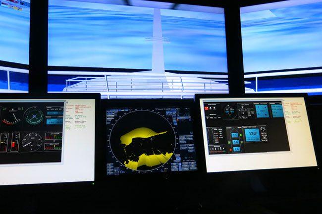 Simulatore di navigazione a Polaria. Foto Roberto Savioli