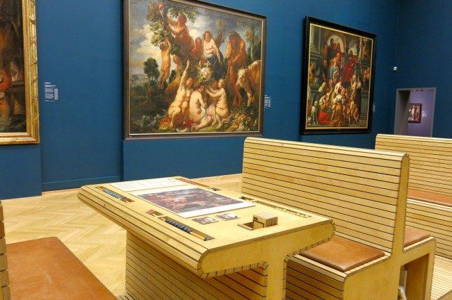 La sala della Galleria Nazionale con i giochi. Foto Roberto Savioli
