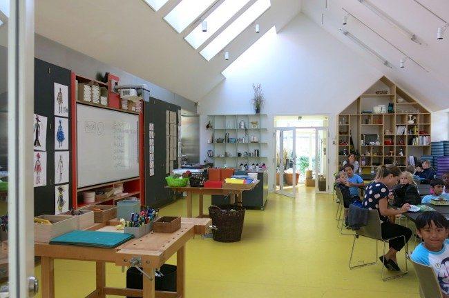 L'edificio dedicato ai workshop per le famiglie del Museo del design. Foto Roberto Savioli