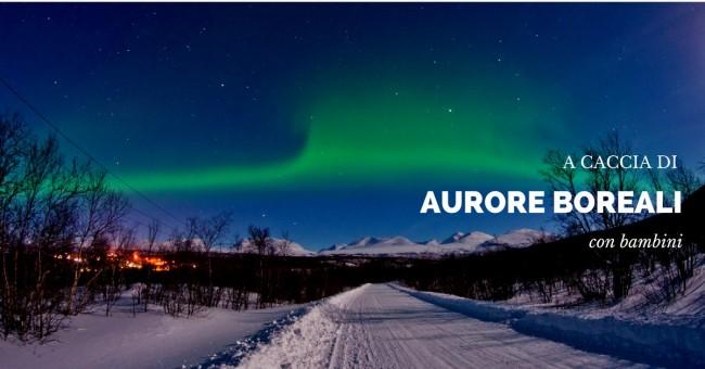 aurore boreali con bambini