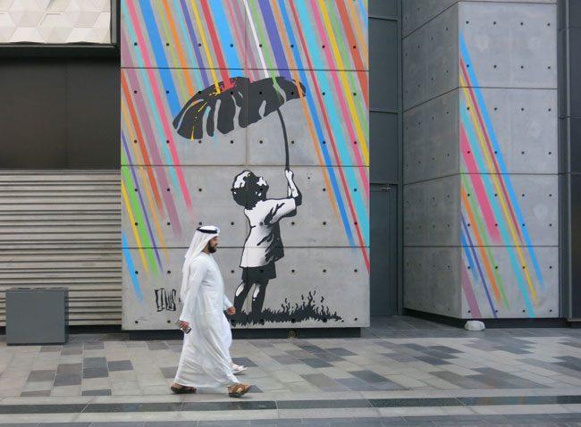 Uno dei murales a City Walk. Foto Roberto Savioli