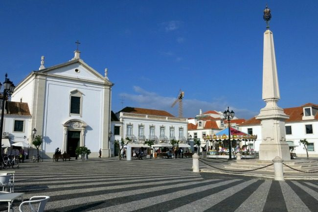 La piazza principale di Vila Real de Santo Antonio.