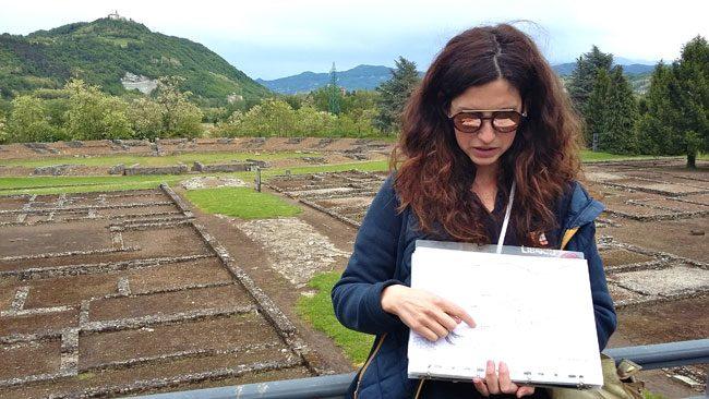 L'archeologa Melania Cazzulo. Foto Nicoletta Pennati
