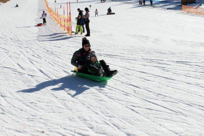 val di non sulla neve