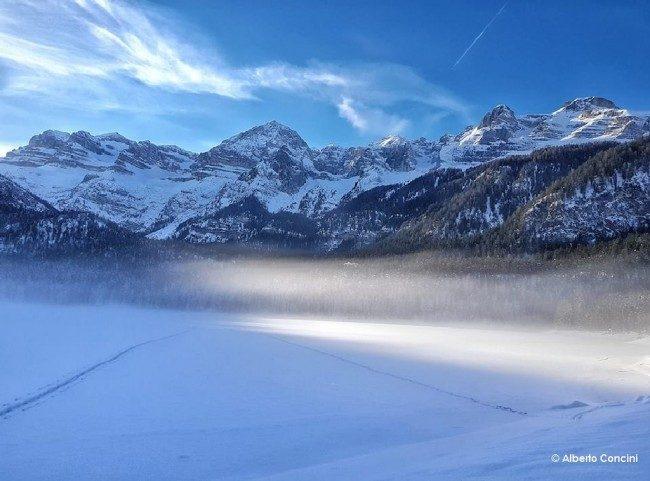 lago di tovel inverno