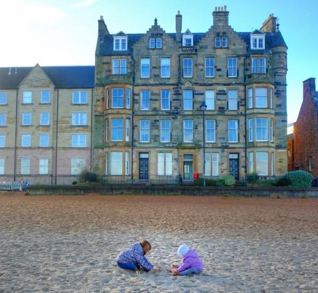 Edimburgo Portobello mare con bambini