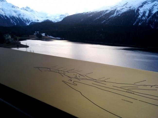 Vista lago dal terrazzo, con mappa