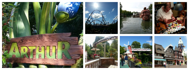 collage immagini europa-park arthur