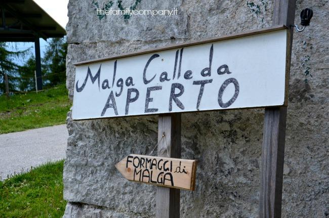 malga calleda cartello